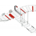 600mm Cable Basket Trapeze Support Bracket