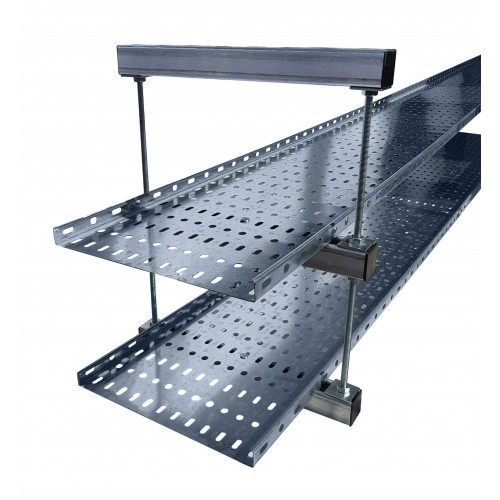 450mm Cable Tray / Ladder Double Tier Trapeze Support Bracket