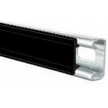Black Plastic Channel Closure Strip - (1 Meter)
