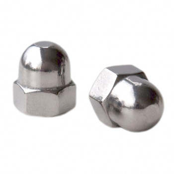 M24 Dome Nuts - (BZP) x 10
