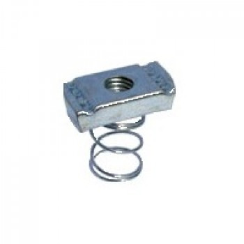 M10 Short Spring Channel Nuts Hot Dipped Galvanised - Box of 100