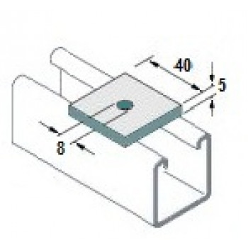 M6 Square Plate Washers Hot Dip Galv. - (Box of 100)
