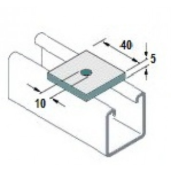 M8 Square Plate Washers Hot Dip Galv. - (Box of 100)