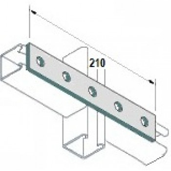 5 Hole Flat Plate - A4 Stainless