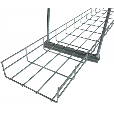 Cable Basket Support Brackets on flat electrical wire