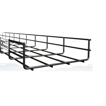 200mm Cable Basket Tray C8 Black x 3 Meter