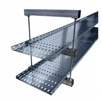 225mm Cable Tray / Ladder Double Tier Trapeze Bracket (HDG)