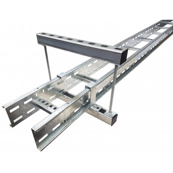 300mm Cable Tray / Ladder Double Tier Trapeze Bracket (HDG)