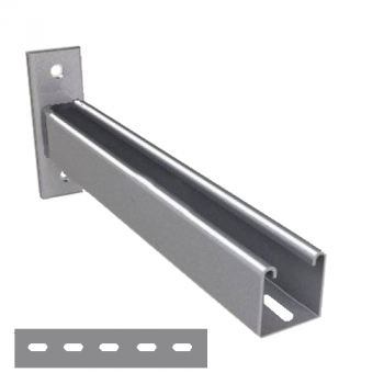 750mm Slotted Cantilever Arms - A4 Stainless