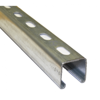 41mm Slotted Channel Hot Dipped Galvanised - 1 Metre