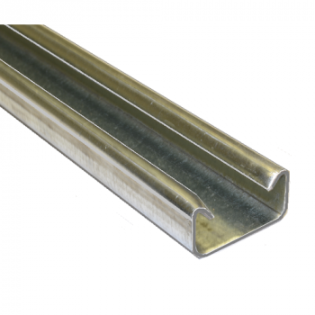 21mm Plain Channel Hot Dipped Galvanised - 2 Metre