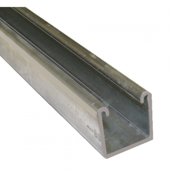 41mm Plain Channel Hot Dipped Galvanised - 1 Metre