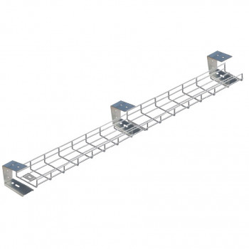 2600mm Under Desk Basket Tray
