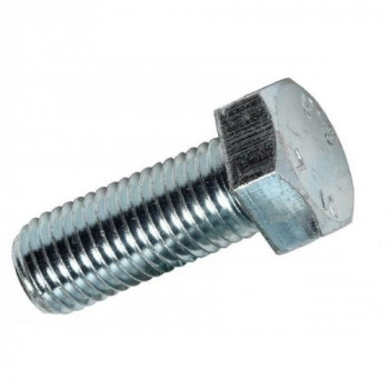 M8x40mm Hex Head Set Screw - (Box of 100) - (BZP)