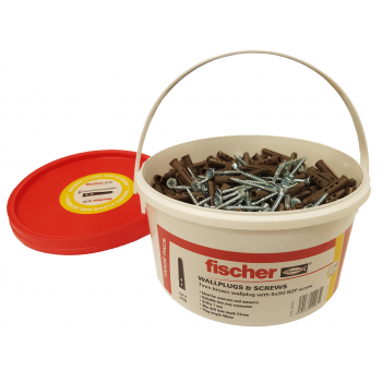 Fischer Brown Contract Plugs & Screws x 400 Tub