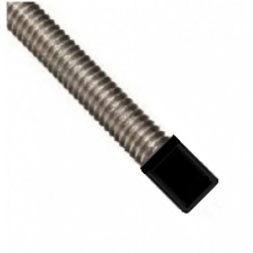 M10 Black Plastic Rod End Caps Pack Of 100