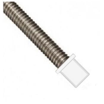 M12 White Plastic  Rod End Hats - (Pack of 100)