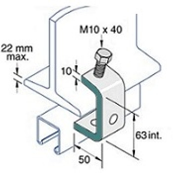 Beam Clamp Tapped