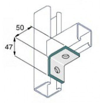 90 Degree Right Angle 1x1 Hole - Stainless Steel