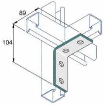 90 Degree Right Angle 2x2 Hole - A4 Stainless