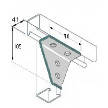 Right Angle Delta Plate 2x2 Hole - A4 Stainless
