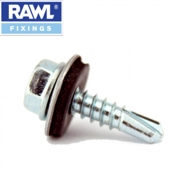 4.8 x 16mm Self Drilling Tech Screws With Washers x 100
